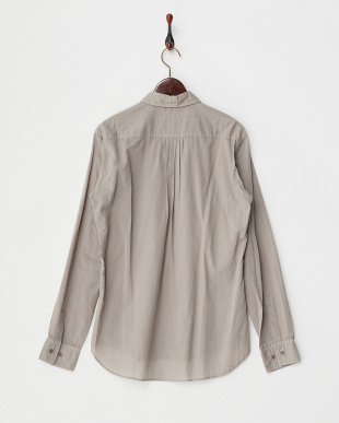 BEIGE  コットンウール製品染めプリーツタックシャツ見る