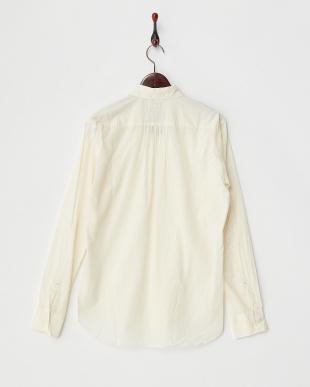 CREAM  コットンウール製品染めプリーツタックシャツ見る