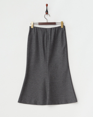 グレー  ウールマーメイドスカート見る