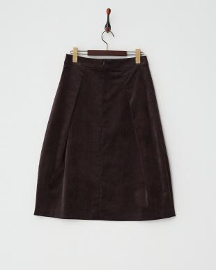 ブラウン  タック入りベロアスカート見る
