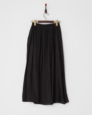 ブラック  スラブロングスカート見る