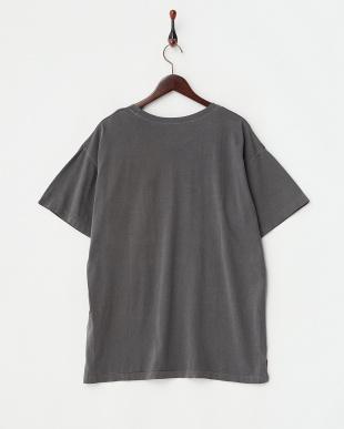 ブラック  ユーズド風ビッグシルエットTシャツ見る