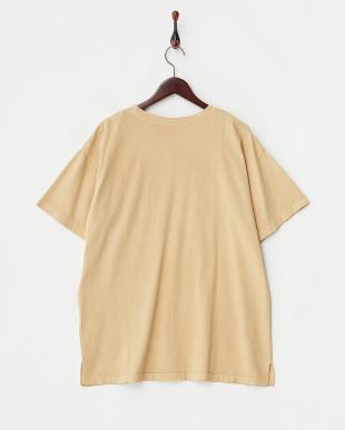 イエロー  ユーズド風ビッグシルエットTシャツ見る