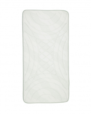 ホワイト ピロトップ シングル 98×195×2.5cm見る