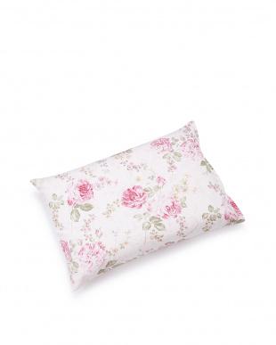 花柄ピンク  三層構造 ピロー 35×50cm見る
