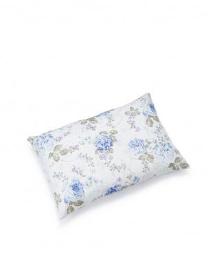 花柄ブルー  ピロー 35×50cm見る
