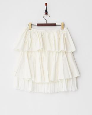 リリィ  レイヤード風フリル&プリーツスカート見る