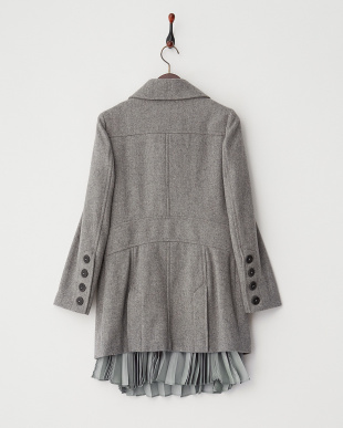 Gray  裾部分プリーツP-Coat見る
