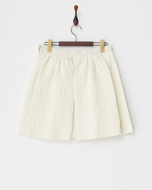 エクリュ 膨れ織りボックスプリーツスカート見る