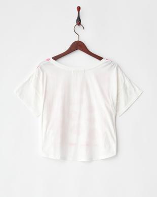 ホワイト ワイドレオパードプリントTシャツ見る