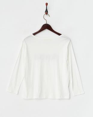オフホワイト Anna  コットン8分袖Tシャツ見る