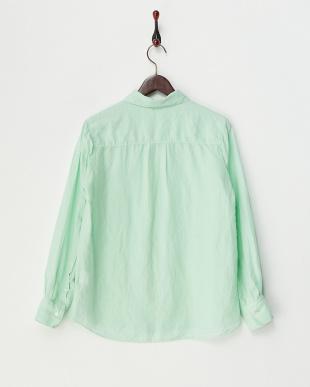 ミント  麻レーヨン製品染めシャツ見る