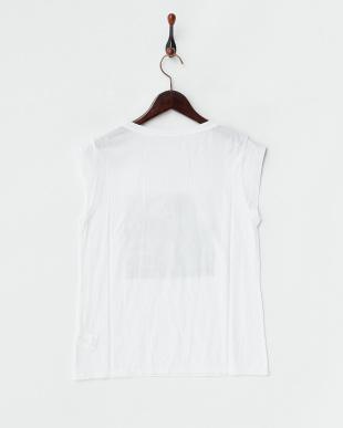 ホワイト  エンブロイダリーTシャツ見る