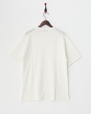 ホワイト 綿麻ネイティブJQニットTシャツ見る