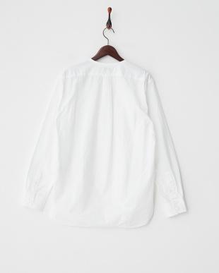 ホワイト  パイピングカラーシャツ見る