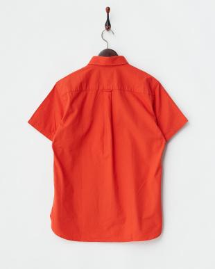 オレンジ オックスシャンブレー半袖シャツ 2/2見る