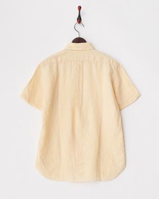 イエロー  コンチネンタルリネンシャツ半袖 1/2見る