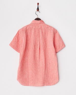 レッド  コンチネンタルリネンシャツ半袖 1/2見る