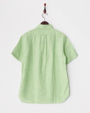 グリーン コンチネンタルリネンシャツ半袖 2/2見る