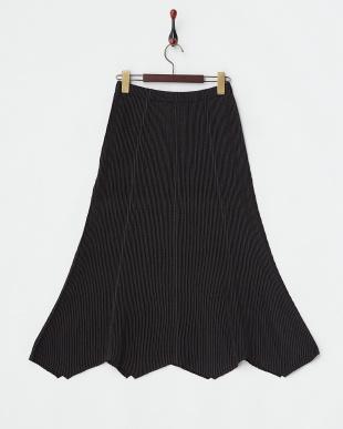 ブラック  CP2シャトル 変形ヘムラインスカート見る