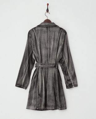 ブラック系  ウォッシュ&ブラッシュ テーラー衿コート見る