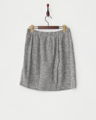 グレー  ソフト裏毛スカート見る