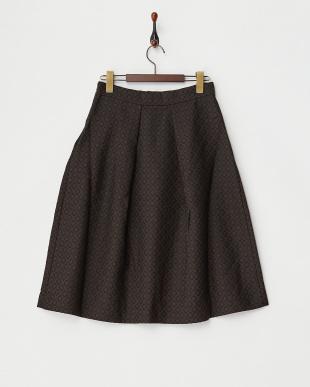 ブラック  ジャガードフレアースカート見る