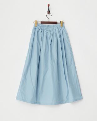 ブルー  タフタギャザースカート見る