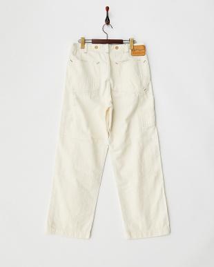 HERINGBONE WHITE USED  日本製PAINTER PANTS見る
