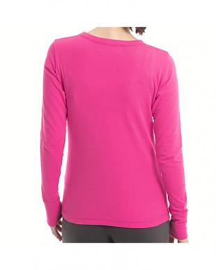 ピンク  ロングスリーブTシャツ見る