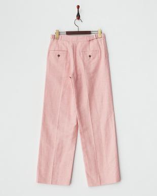 ピンク  A 綿麻ワイドパンツ見る