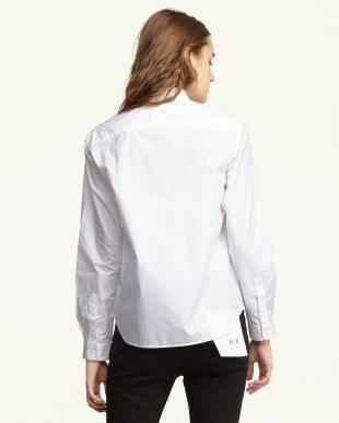 ホワイト  タイプライターコンパクトカラーシャツ見る