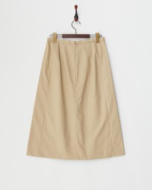 ベージュ  ブロードボンディングスカート見る