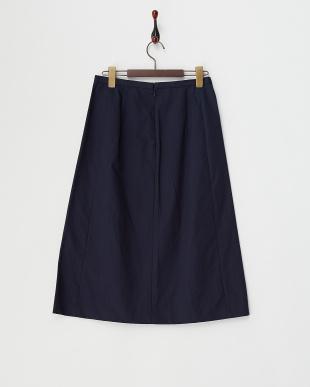 ネイビー  ブロードボンディングスカート見る