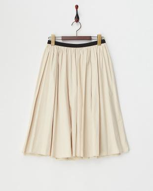 ベージュ チュールリバーシブルスカート見る
