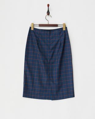 ブルー バックZIPウィンドーぺーンスカート見る