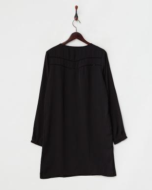 ブラック MS・Long sleeve silky dress見る