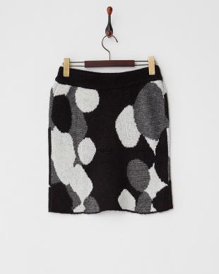 ブラック アートジャガードタイトスカート見る