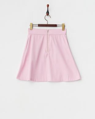 ピンク  フレアスカート見る
