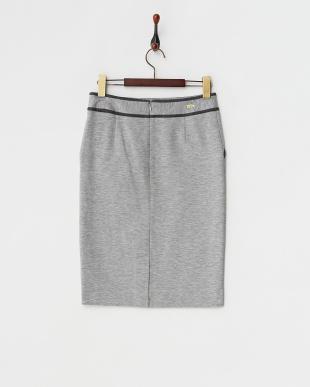 グレー バック刺繍入りタイトスカート見る