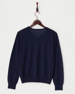 ネイビー  Vネックセーター見る