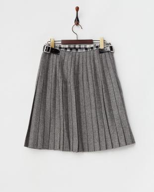 グレー  キルト ラップスカート見る