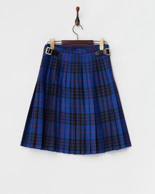ブラック×ブルー  キルト ラップスカート見る