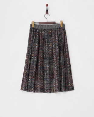 グレー プリントスカート見る