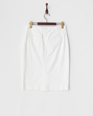 ホワイト ドローストリングスカート見る