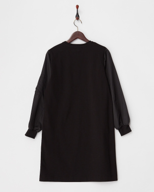 BLACK MA-1袖ワンピース見る