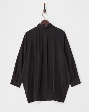 BLACK  ポリピーチビッグシャツ見る