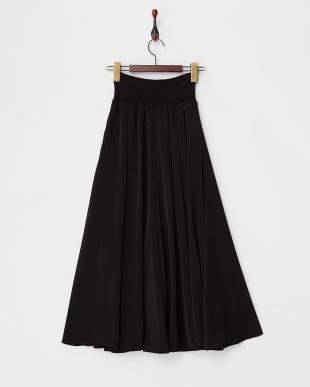 BLACK  サテンラップマキシスカート見る