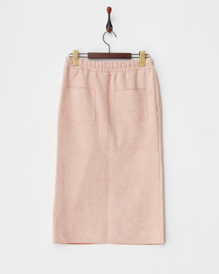 PINK  フェイクスエードタイトスカート見る