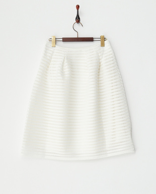 WHITE  レースボリュームスカート見る